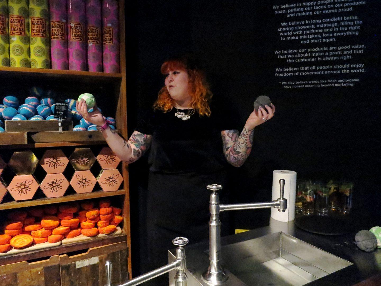 jelly bath bombs lush green coconut dark arts harry potter