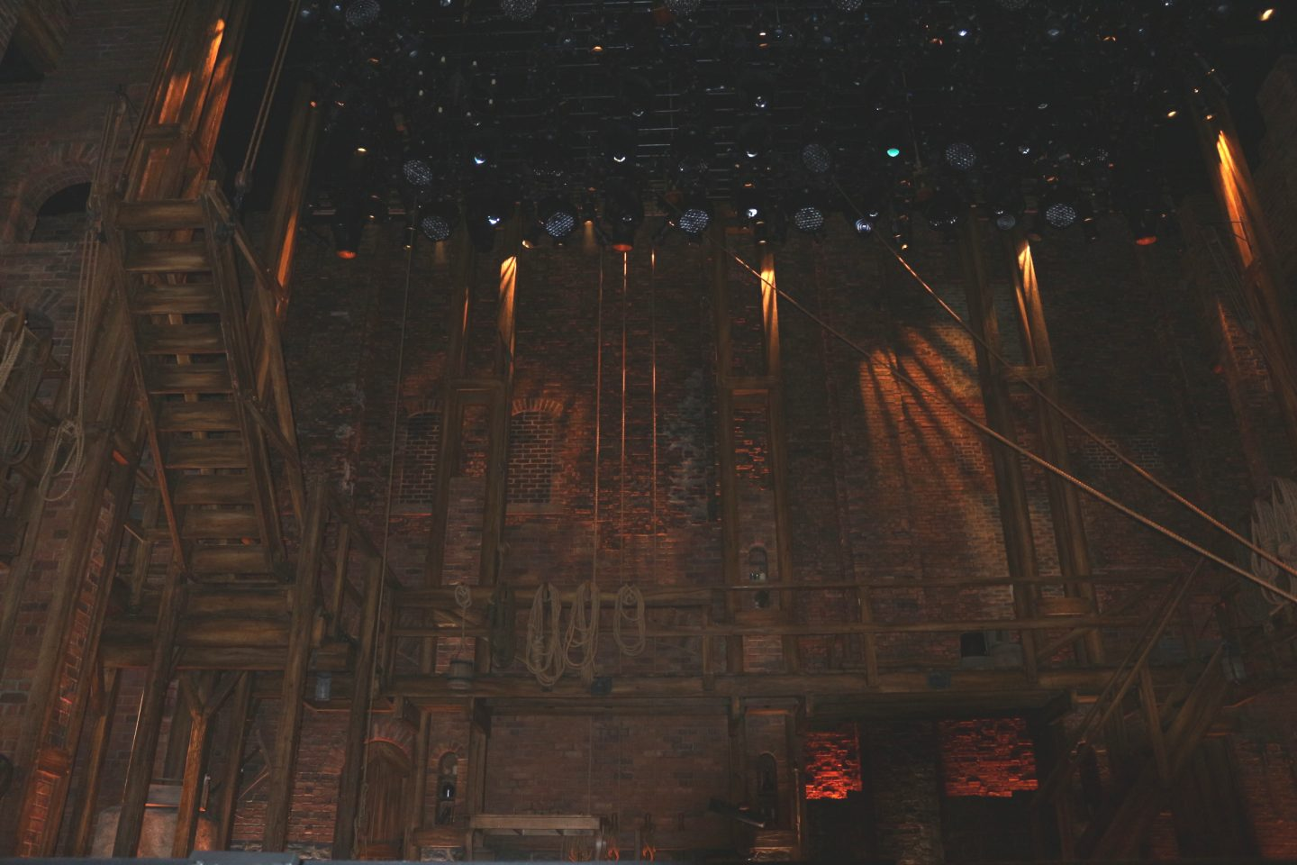 hamilton stage set cast crew stage manager theatre west end