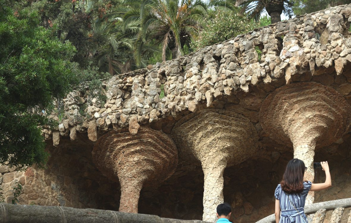 park guell gaudi barcelona spain europe