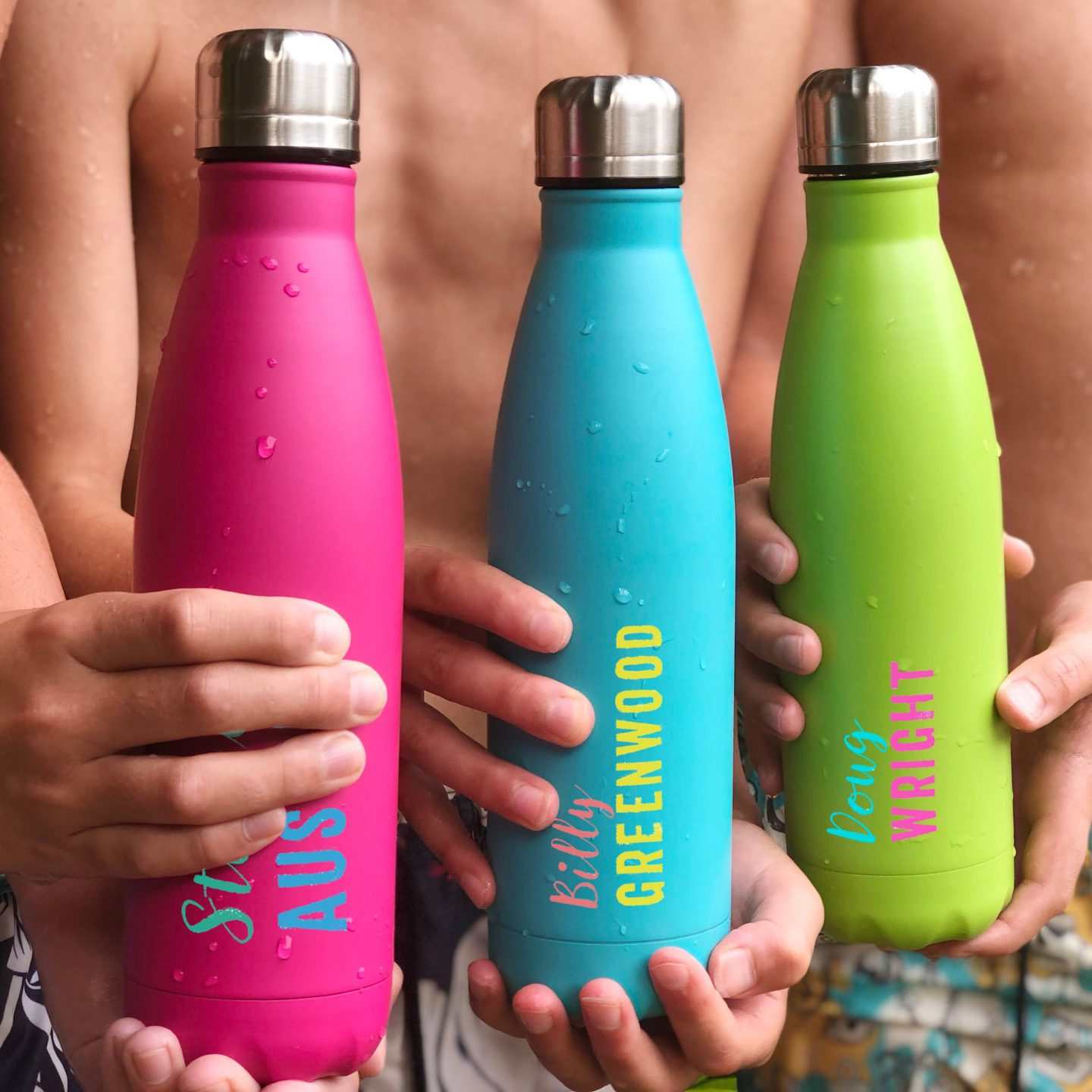 christmas small biz gift guide water bottles neon